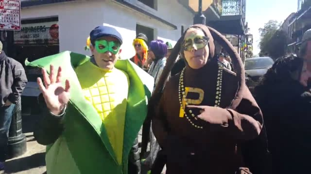 festivities in new orleans for fat tuesday - gras stock videos and b-roll footage