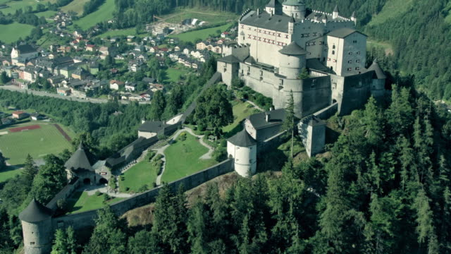 festung hohen werfen - traditionally austrian stock videos & royalty-free footage