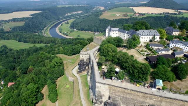 Festung Koenigstein Aerial View