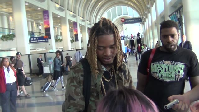 fetty wap departing at lax airport at the dreamworks animation's dinotrux launch event at hollywood athletic club on august 12, 2015 in hollywood,... - wap stock videos & royalty-free footage