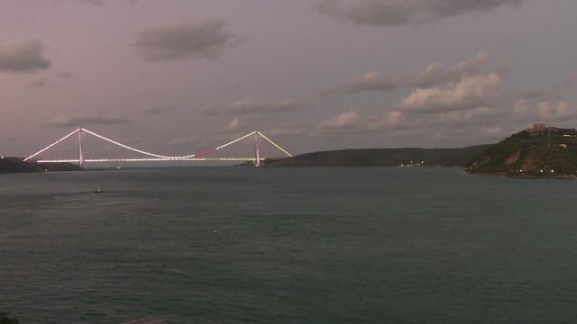 a few days ahead of the opening of a third bridge over the bosphorus the editorial director of radyo trafik says istanbuls traffic problems have... - editorial stock videos & royalty-free footage