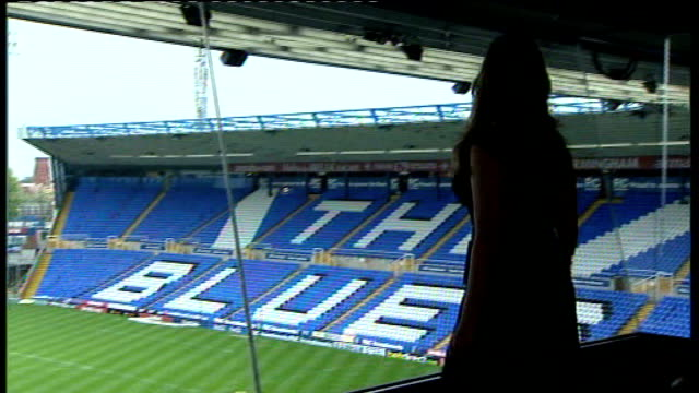 fewer women reaching powerful positions in society according to report birmingham st andrews int karren brady along as looks out over football... - カレン ブラディ点の映像素材/bロール