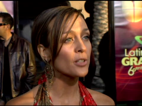 fey on this being her first emmy and emmy nomination, how she chose her dress, and her excitement about the event at the 2005 latin grammy awards... - latin grammy awards stock videos & royalty-free footage