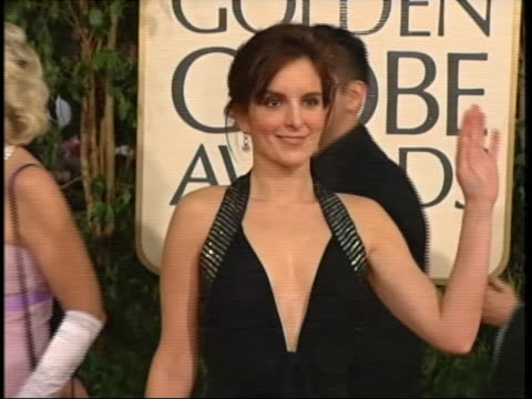 fey tilt down dress and back up mcu fey waving tracking shot fey walking - the beverly hilton hotel stock videos & royalty-free footage
