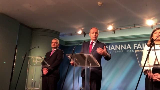 fianna fail's leader micheal martin has addressed questions about the gender balance of his party's candidates as he prepares to fight the general... - kampf der geschlechter konzept stock-videos und b-roll-filmmaterial