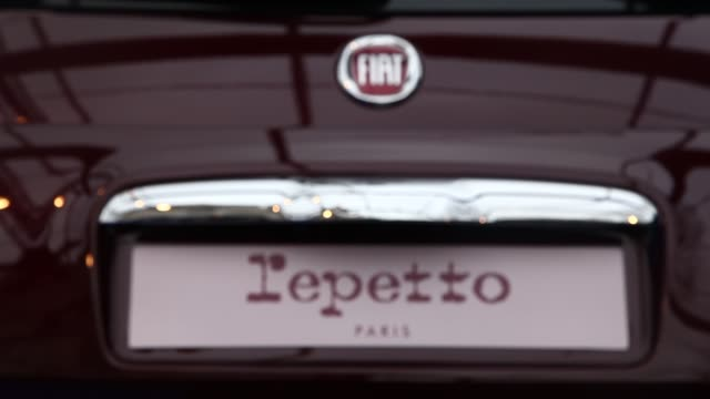 Fiat 500 by Repetto during the conceptcars exhibition and automobile design in Paris on February 1 2019 The latest conceptcars and supercars are...