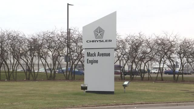 stockvideo's en b-roll-footage met fiat chrysler announces that it plans $45 billion in new us investment to upgrade five existing plants and build a new factory in detroit creating... - chrysler