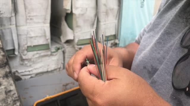 vidéos et rushes de câble fibre optique - fibre optique