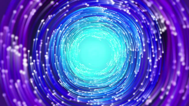 トンネル内の光ファイバケーブル - 4k解像度 - 中央演算処理装置点の映像素材/bロール