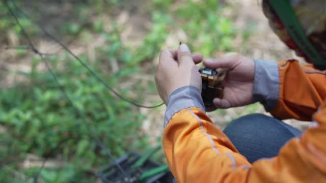 fiber optic repairing. - pole stock videos & royalty-free footage