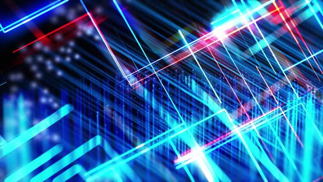 vídeos y material grabado en eventos de stock de conexiones de fibra óptica, backgroud abstracto - export palabra en inglés