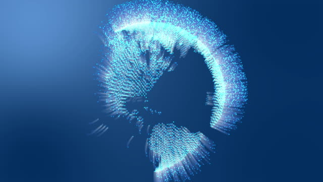 vídeos y material grabado en eventos de stock de conexiones de fibra óptica moviéndose alrededor de la tierra. - export palabra en inglés