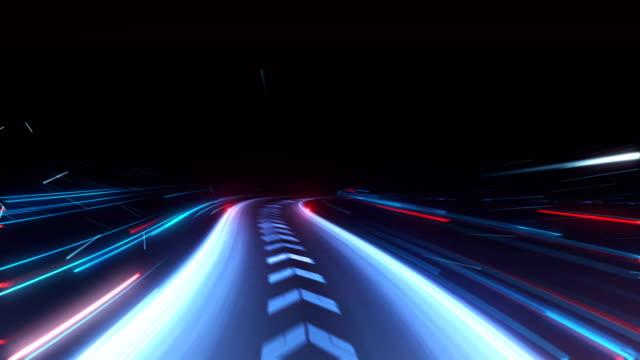fiber road network technology - stock video - seamless loop - motivazione video stock e b–roll