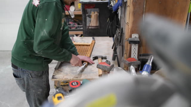 fiberglass canoe manufacturing at holy cow canoes in guleph ontario canada on thursday march 1 2018 holy cow canoes is one of ontario's few canoe... - fibreglass stock videos and b-roll footage
