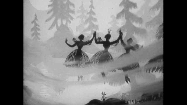 ws fictional fairies helping hero in woods / united kingdom - 1938 stock videos & royalty-free footage