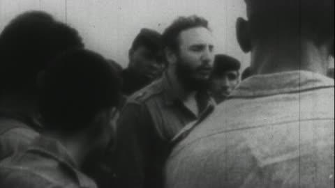 vidéos et rushes de fidel castro at the bay of pigs - 1961