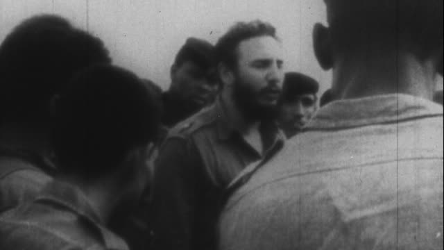 fidel castro at the bay of pigs - 1961 stock videos & royalty-free footage