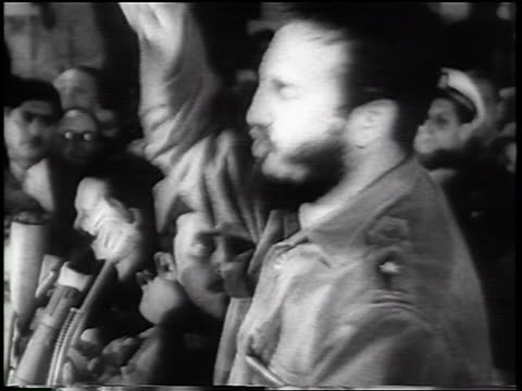 fidel castro giving impassioned speech / newsreel - 1961 stock videos & royalty-free footage