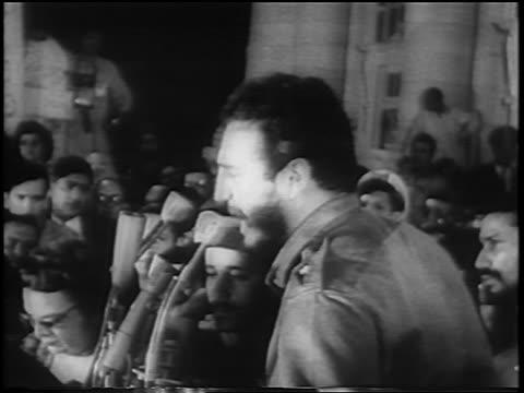 fidel castro giving impassioned speech / newsreel - fidel castro stock videos and b-roll footage