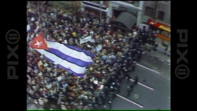 fidel castro's visit to new york where he addressed the united nations general assembly on october 12th 1979 in new york new york - cuban missile crisis stock videos & royalty-free footage