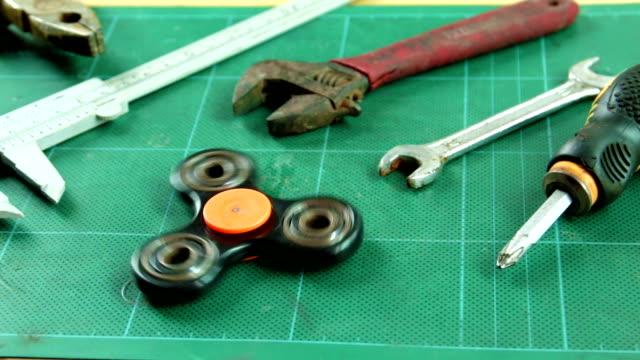 fidget spinner - vernier calliper stock videos & royalty-free footage