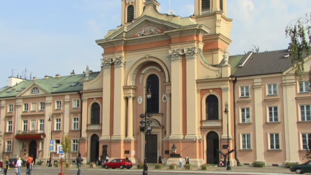 ms, tu, field cathedral of the polish army, (katedra polowa wojska polskiego), warsaw, poland - 17th century style stock videos & royalty-free footage