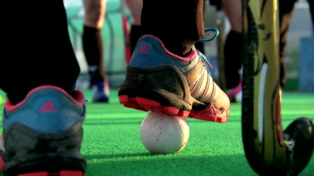 field hockey pitch - sporting footwear stock videos & royalty-free footage