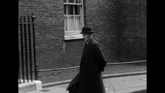 Field Marshall Lord Montgomery arrives at Downing Street for a meeting