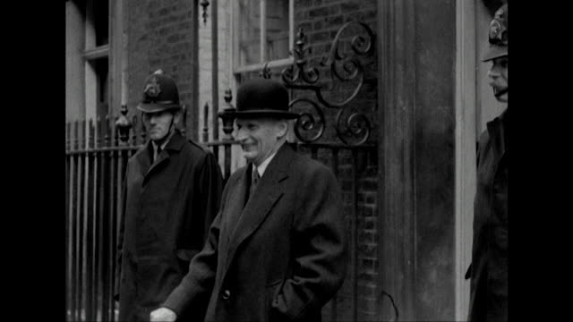 Field Marshall Lord Montgomery leaves 10 Downing Street