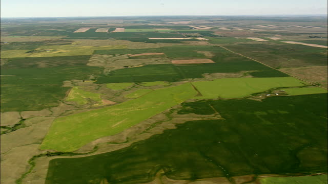 Field Patterns On Fort Peck Indian Reservation  - Aerial View - Montana, Roosevelt County, United States
