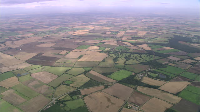 field patterns over lincolnshire wolds - lincolnshire stock videos & royalty-free footage