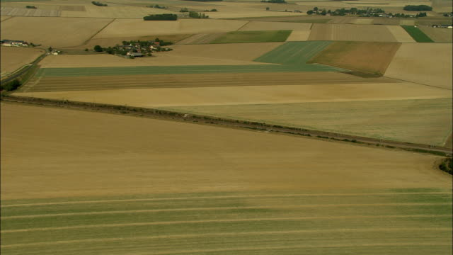AERIAL, Fields near Arromanches, Normandy, France