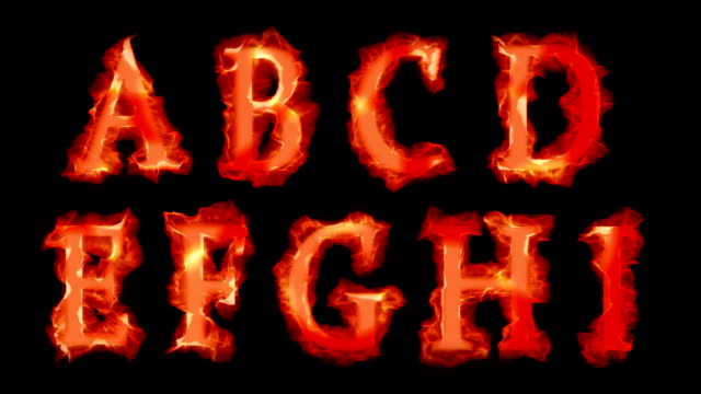 fiery fonts - alphabet stock videos & royalty-free footage