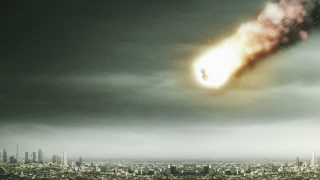 A fiery meteor strikes and levels Los Angeles.