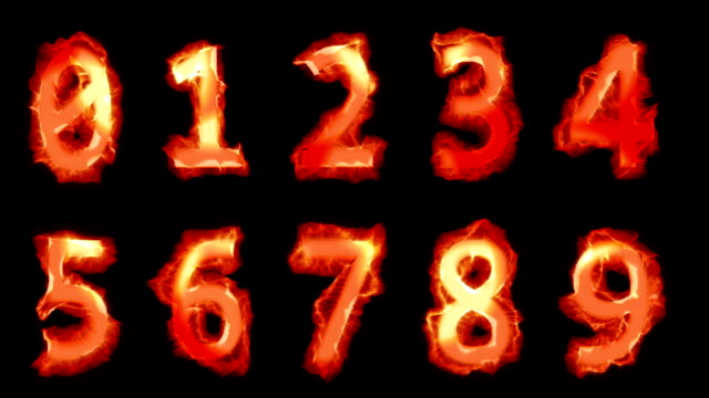 fiery numbers - the alphabet stock videos & royalty-free footage