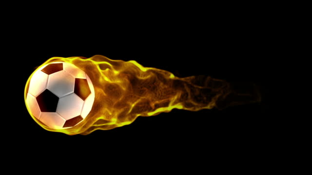 fiery soccerball background - basketball hoop stock videos and b-roll footage