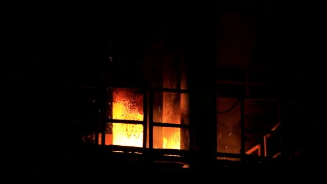 fiery sparks - blast furnace stock videos & royalty-free footage