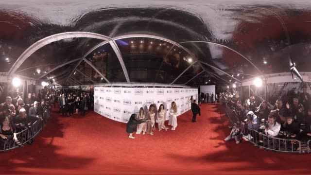 fifth harmony at 2016 people's choice awards 360 - monoscopic image stock videos & royalty-free footage