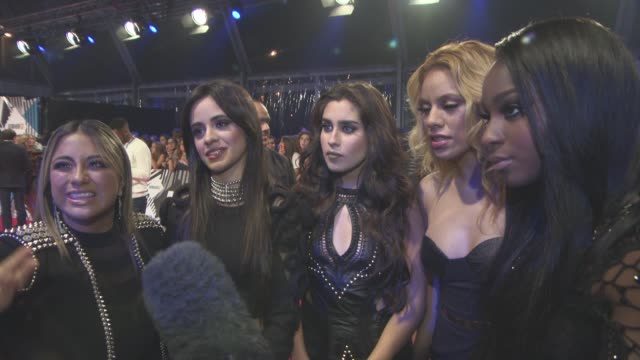 INTERVIEW Fifth Harmony on being at the awards on Justin Bieber at MTV Europe Music Awards on October 25 2015 in Milan