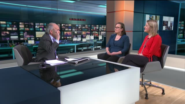 fifth of women wrongly believe that smear tests can detect ovarian cancer; england: london: gir: int emily dearman and alexandra holden live studio... - 生殖器点の映像素材/bロール