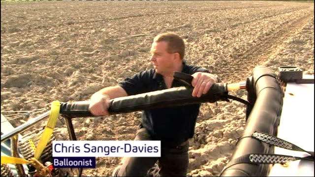 fifty balloonists cross english channel to set new world record chris sangerdavies interview sot - world record stock videos & royalty-free footage