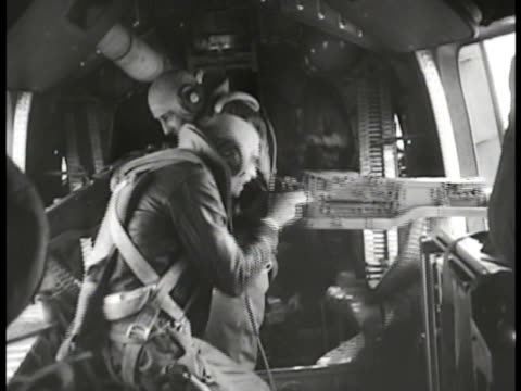 fighter aircraft diving ms waistgunner firing fifty caliber machine gun ws japanese fighter aircraft flying by tu ws tailgunner firing td aircraft... - machine gun stock videos & royalty-free footage