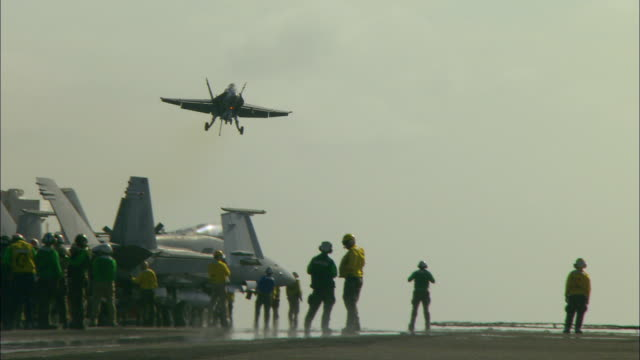MS, PAN, fighter jet landing on aircraft carrier deck