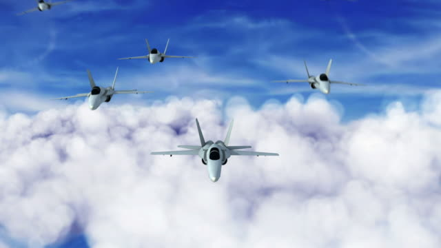 fighter jet teamwork 1080 hd - fighter stock videos & royalty-free footage