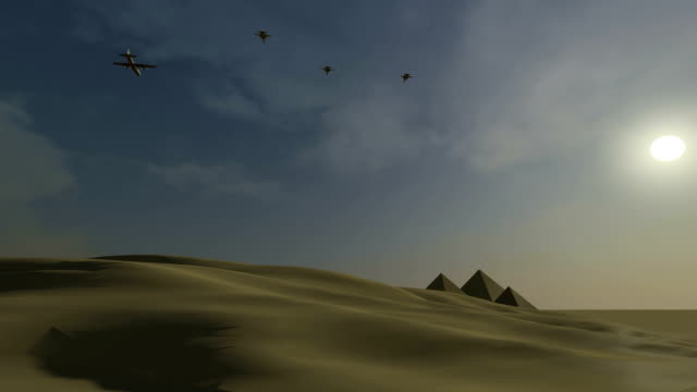 fighter jets attacking in the egyptian desert - supersonic airplane stock videos and b-roll footage
