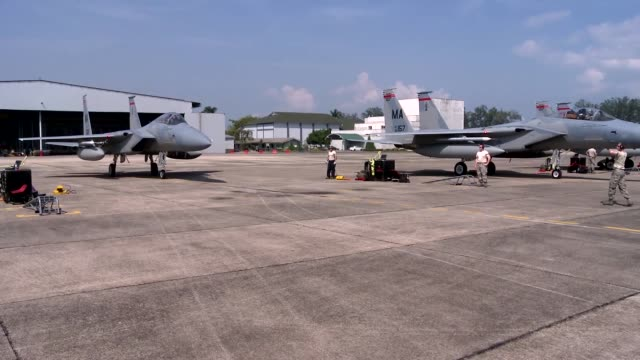 Fighter Jets from Barnes ANG from Massachusetts arrive at Airbase Butterworth Malaysia to participate in Cope Taufan 14