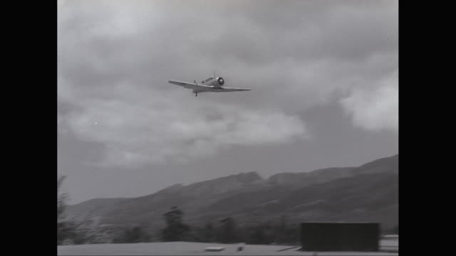 ws ts fighter plane flying in sky / united states - 1953 stock videos and b-roll footage