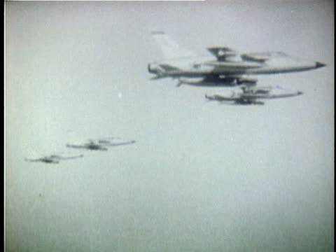 us fighter planes in flight around the time of the gulf of tonkin incident / north vietnam - united states airforce stock videos & royalty-free footage