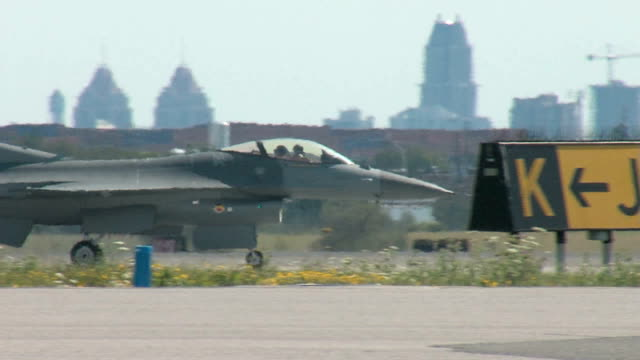 f16 fighter taxiing 01 - fighter stock videos & royalty-free footage