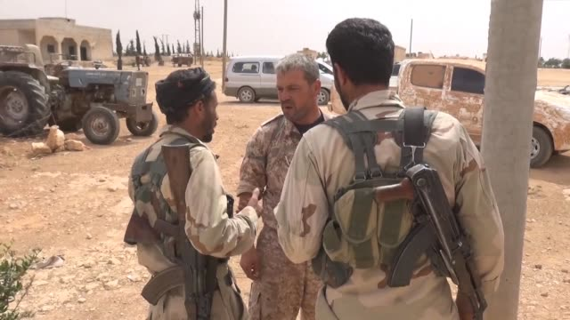 fighters from the syrian democratic forces sdf continued their fight against the islamic state group is wednesday on the outskirts of the northern... - syrian democratic forces stock videos & royalty-free footage